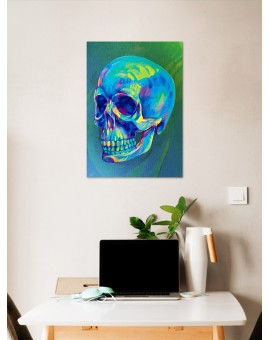 Placa Decorativa Caveira Neon - PD023